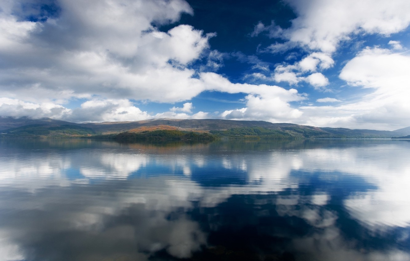 Photo wallpaper the sky, water, landscape, mountains, nature, lake, river, the ocean, view, beauty, Alaska