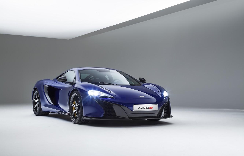 Photo wallpaper McLaren, Blue, Coupe, Supercar, Supercar, 2014, 650S