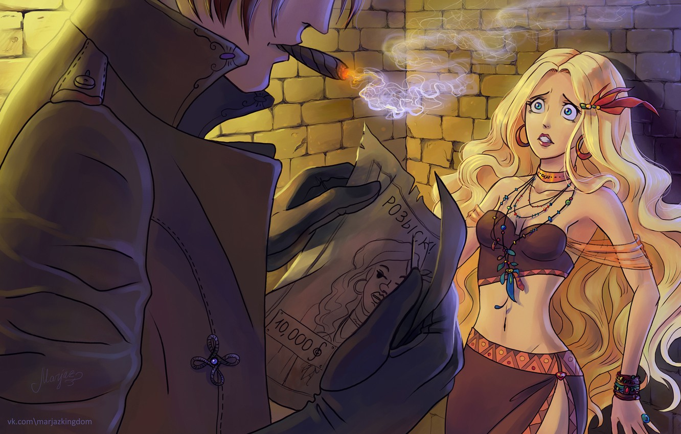 Wallpaper Smoke Anime Cigar Witch Hunter Images For Desktop Section Situacii Download