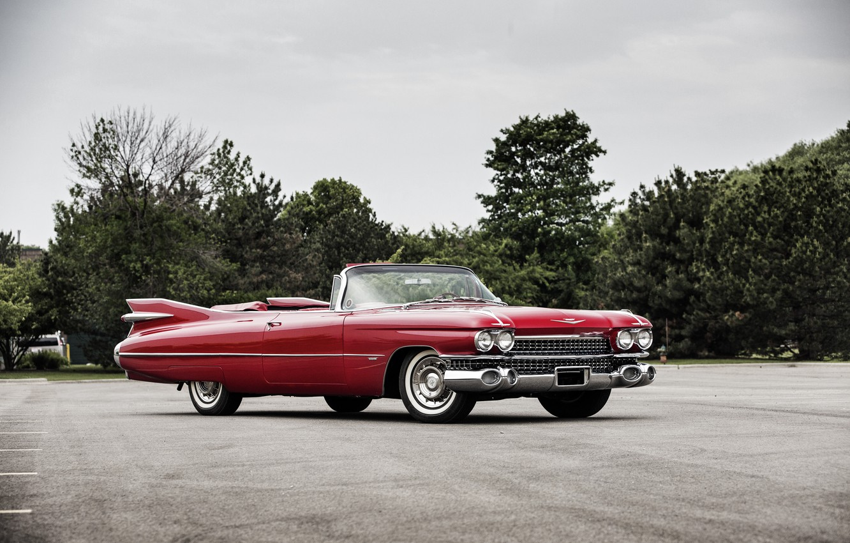 Photo wallpaper Cadillac, Cadillac, Convertible, 1959, Sixty-Two
