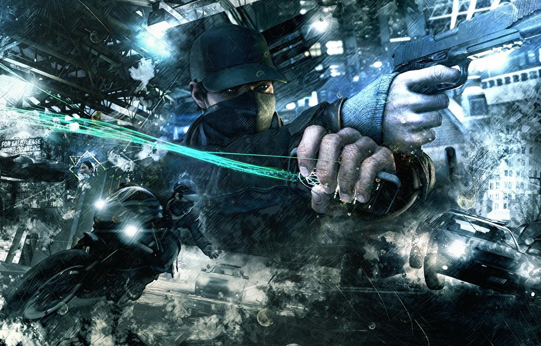 Wallpaper Gun Abstract Ubisoft Background Watch Dogs