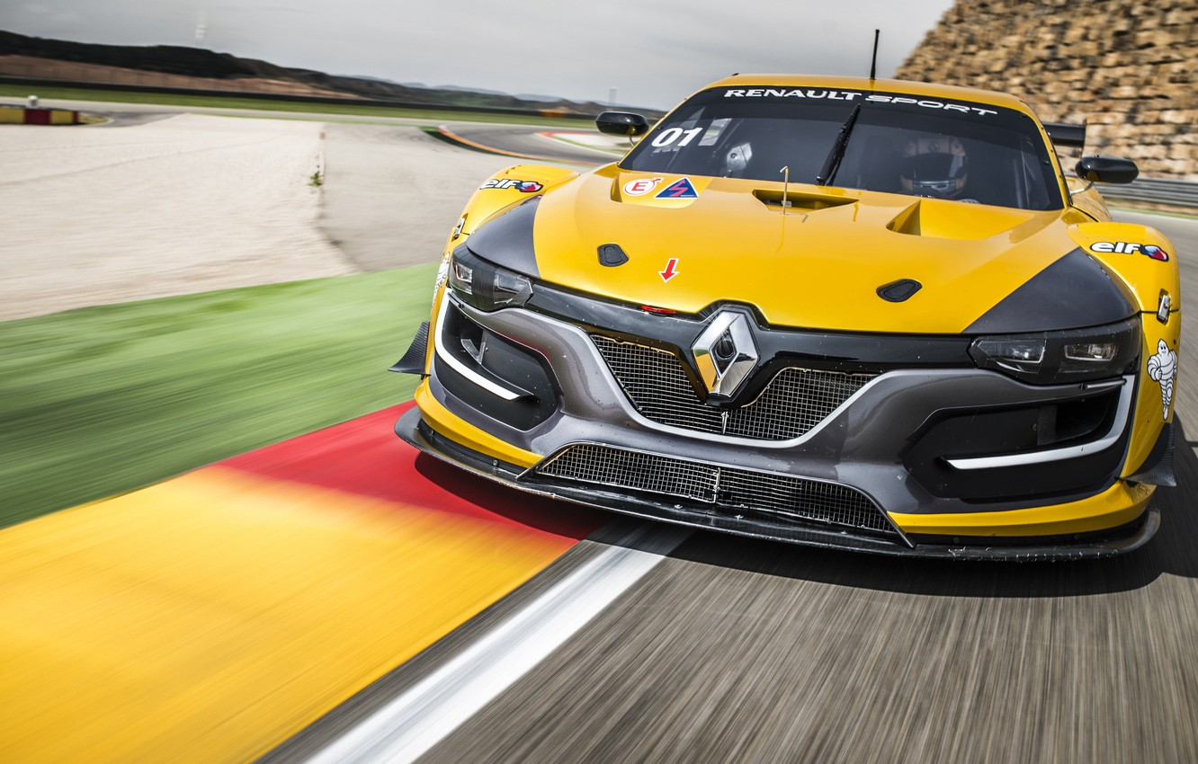Photo wallpaper Renault, supercar, Reno, Sport, 2014, RS 01