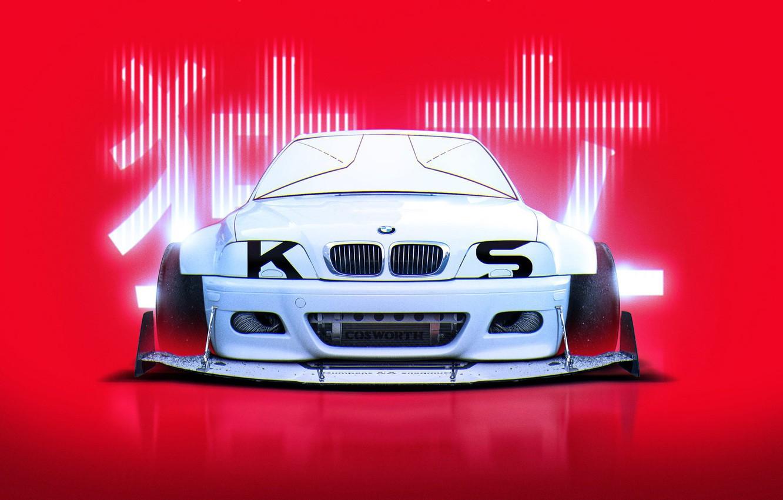 Photo wallpaper BMW, Japan, Style, White, E46, by Khyzyl Saleem, Cosworth, M3