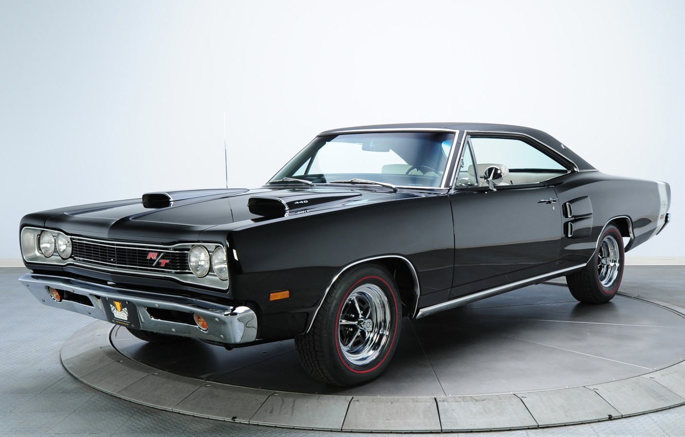Photo wallpaper background, black, Dodge, 1969, Dodge, the front, Coronet, Muscle car, Magnum, Muscle car, R T, …