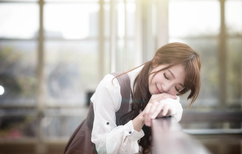 Photo wallpaper girl, mood, Asian