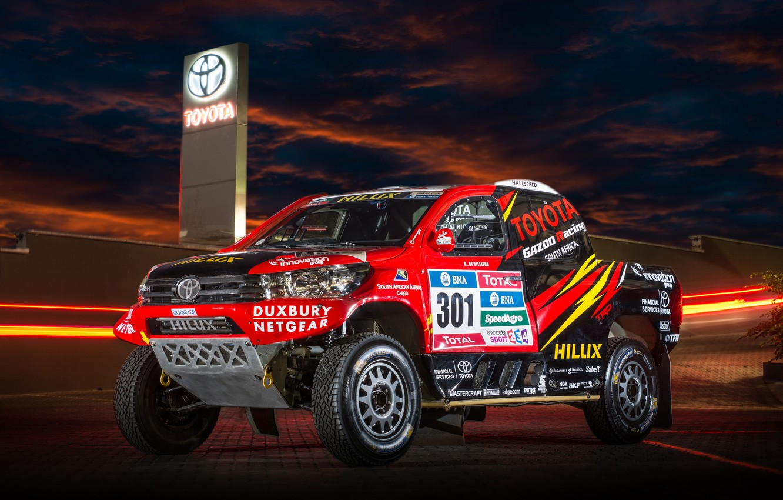 Photo wallpaper SUV, Toyota, Hilux, Rally Dakar