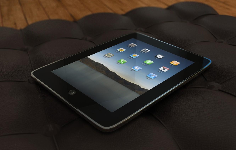 Photo wallpaper sofa, apple, tablet, ipad, the iPad