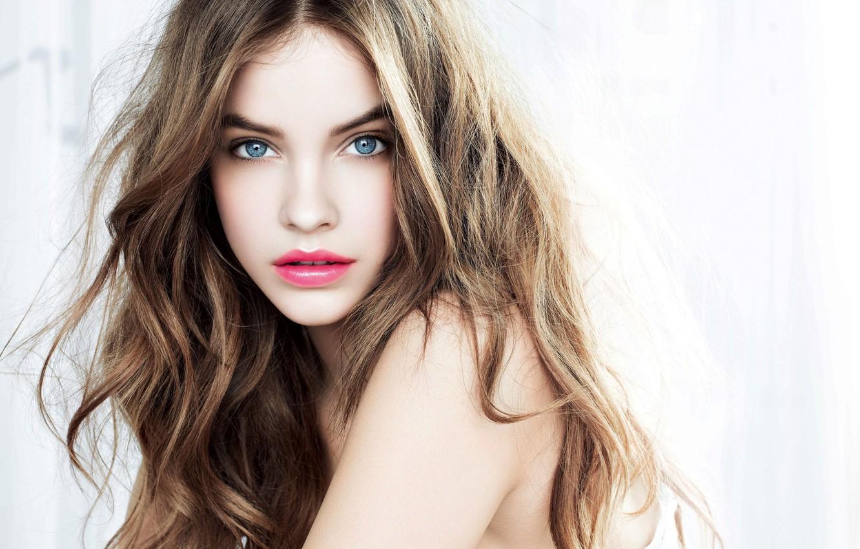 Photo wallpaper eyes, girl, face, model, lipstick, blue, Barbara Palvin, Barbara Palvin, Victoria's Secret Angel