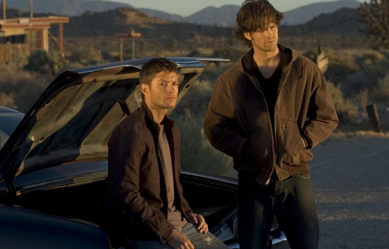Photo wallpaper guys, Winchester, sam, supernatural, dean, Sam, supernatural, chevrolet impala, Dean