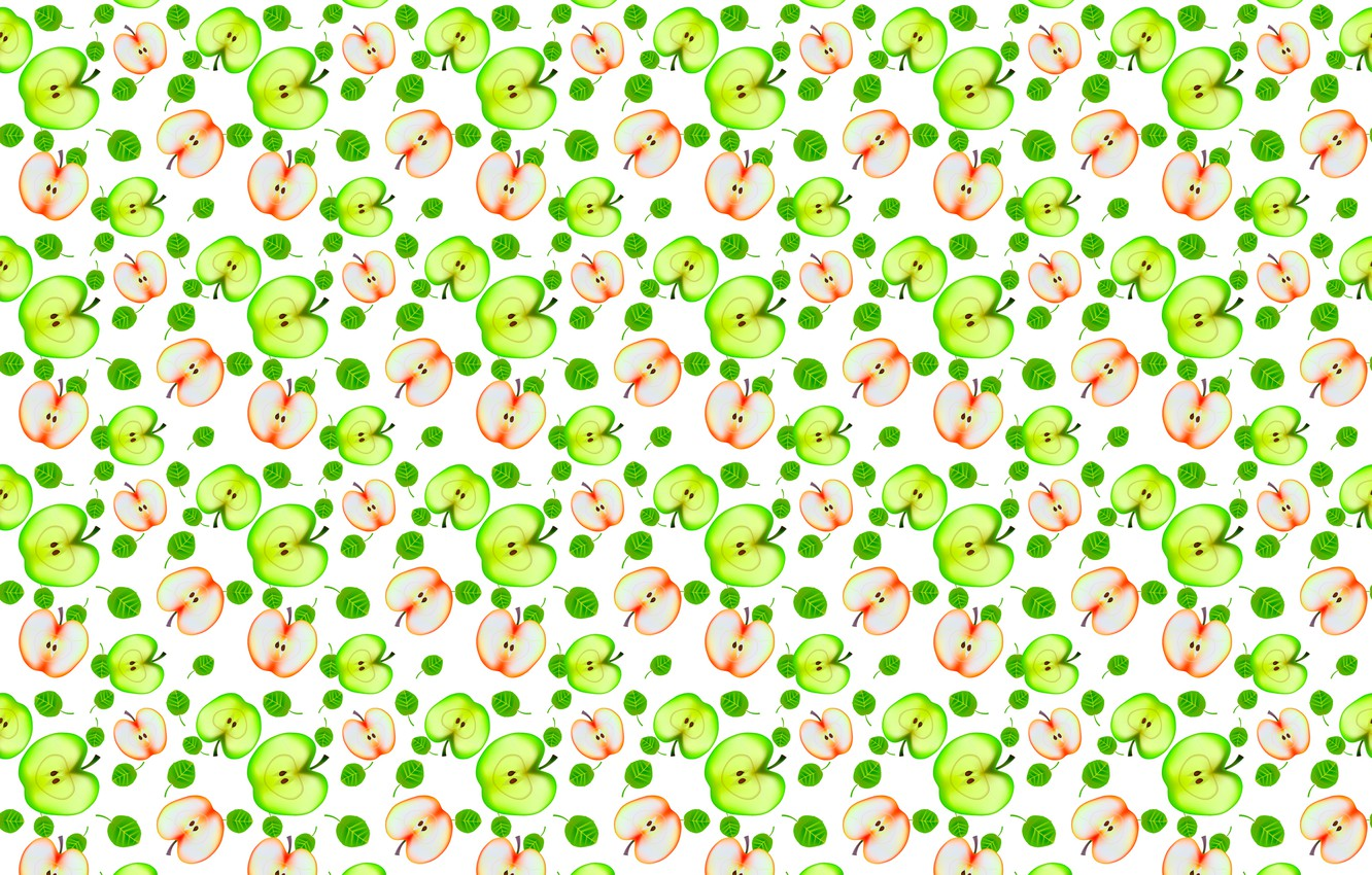 Photo wallpaper pattern, Apple, half