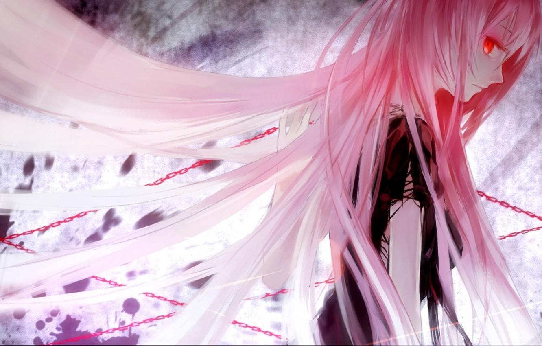 Photo wallpaper girl, anime, chain