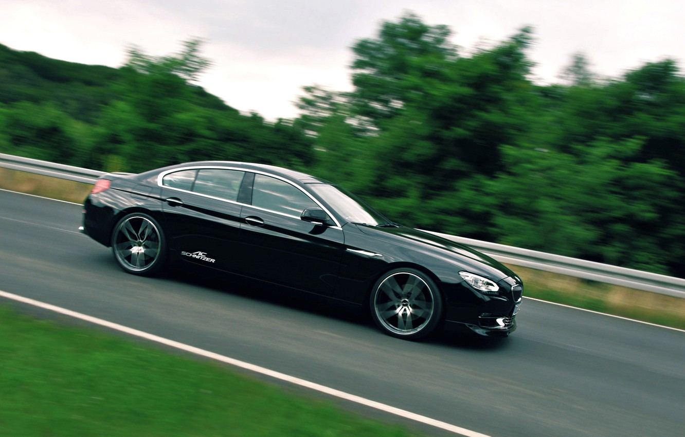 Photo wallpaper Gran Coupe, Tuning, Motion, BMW 640d, AC Schnitzer