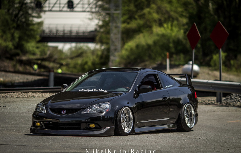 Photo wallpaper turbo, wheels, honda, black, japan, jdm, tuning, low, acura, stance, integra, rsx, dapper, type s