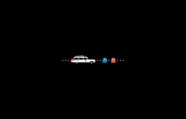 Photo wallpaper machine, background, Ghostbusters, Pac-Man