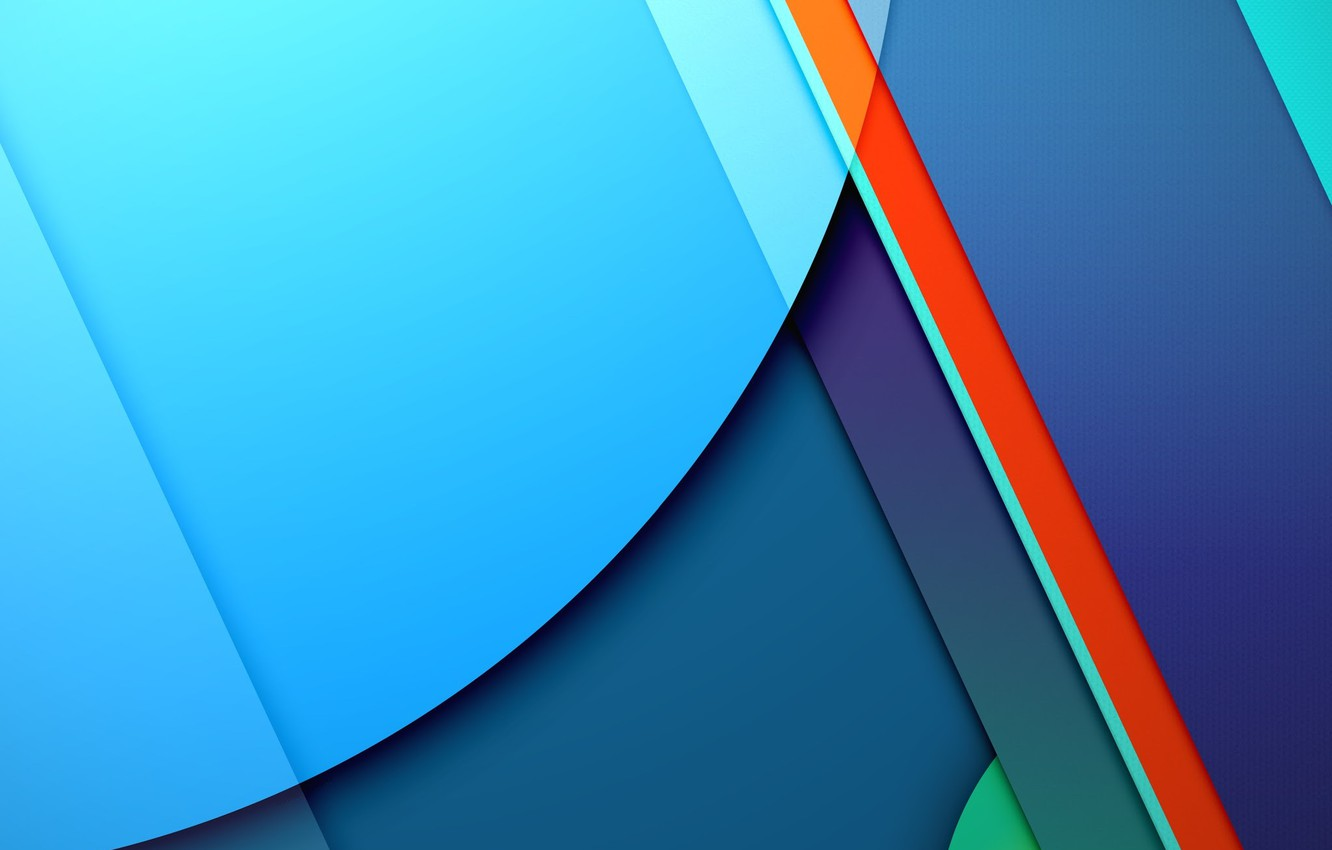 Photo wallpaper Android, Red, Circles, Blue, Design, 5.0, Line, Colors, Lollipop, Stripes, Abstraction, Material