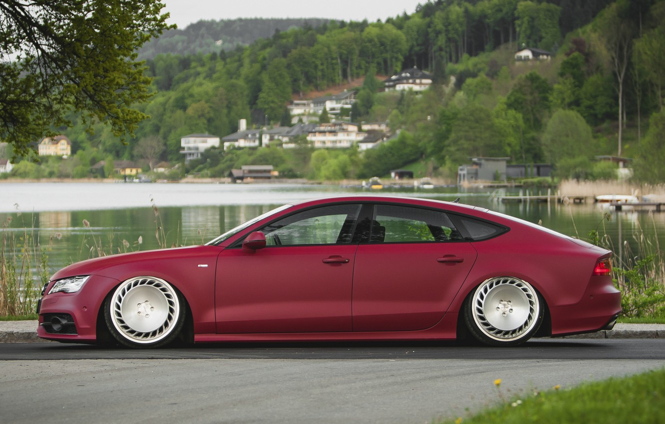 Photo wallpaper tuning, stance, Audi A7, messer