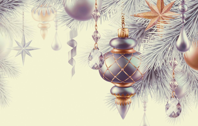 Photo wallpaper decoration, holiday, balls, star, Christmas, star, Happy New Year, Christmas, balls, beautiful, beauty, Merry Christmas, …