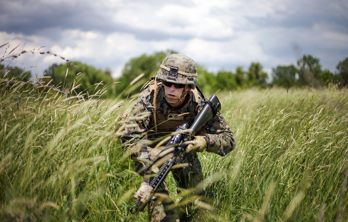 Photo wallpaper field, weapons, Military