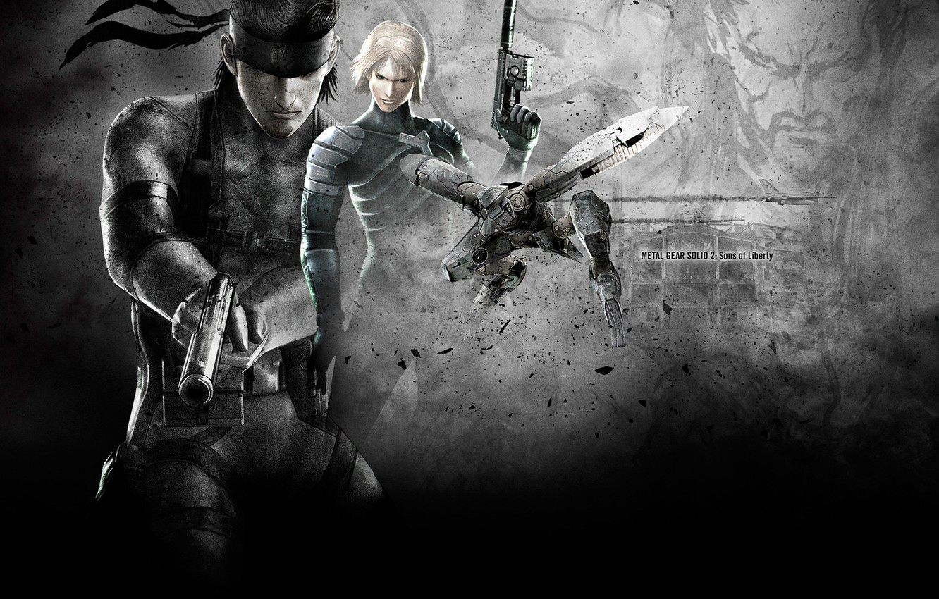Wallpaper Wallpaper Solid Snake Raiden Metal Gear Solid 2 Sons