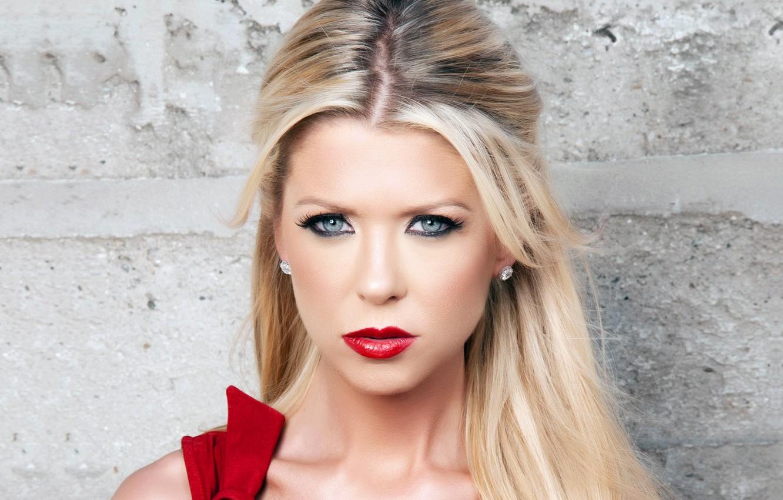 Photo wallpaper look, face, lipstick, blonde, lips, Tara Reid