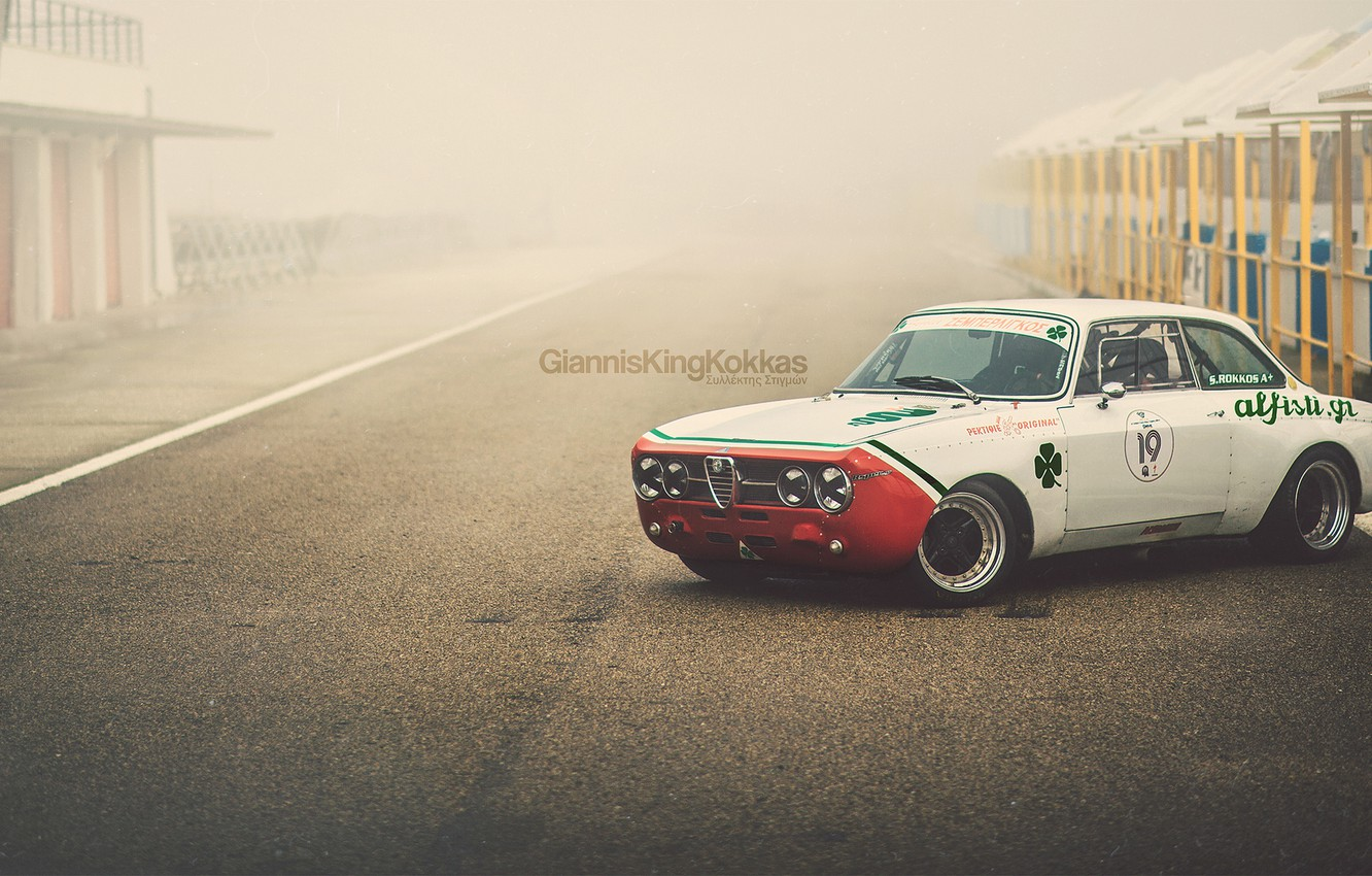 "Photo wallpaper Alfa Romeo, retro, 1970, oldschool, Giulia, GTAm, By Giannis ""KING"" Kokkas, 1750"