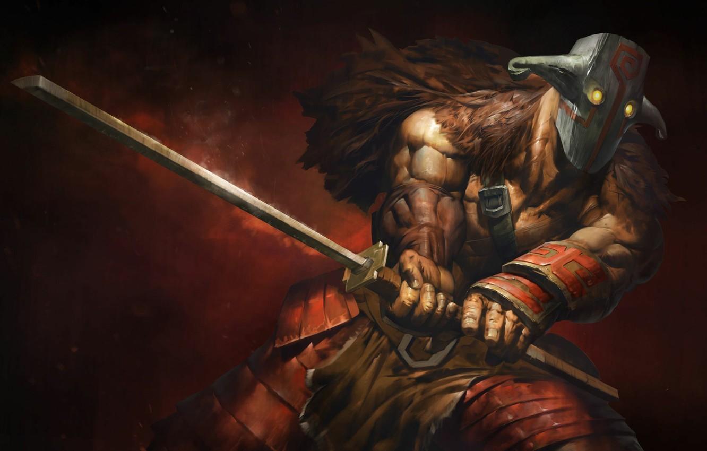 Wallpaper Sword Warrior Mask Art Dota 2 Juggernaut Yurnero Images For Desktop Section Igry Download
