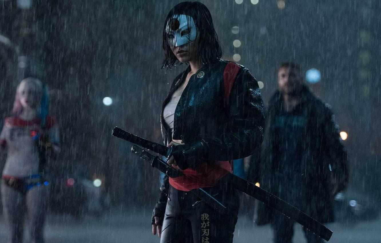 Photo wallpaper cinema, wallpaper, girl, sword, rain, fox, woman, movie, ken, blade, brunette, samurai, ninja, hero, asian, …