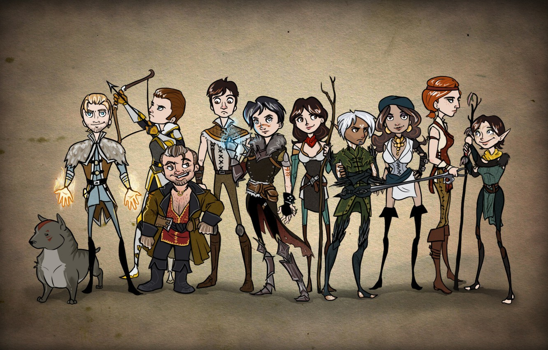 Wallpaper Dragon Age Elf Fenris Hawke Dwarf Sebastian Vael