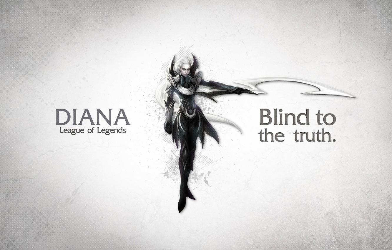 Photo wallpaper Diana, League of Legend, Moon Blade