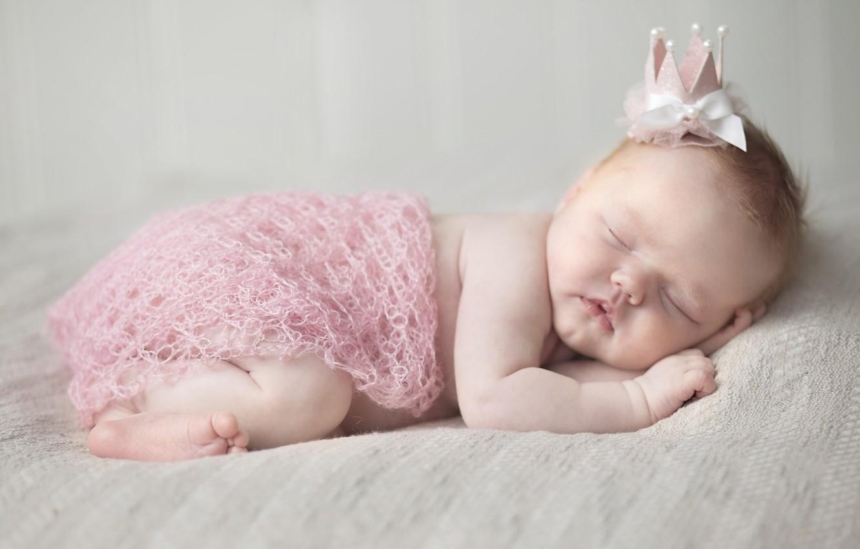 Photo wallpaper sleep, girl, Princess, baby