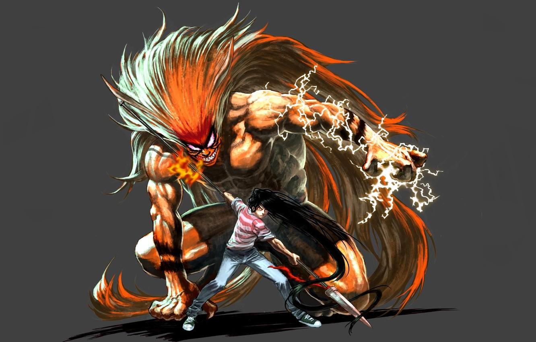 Wallpaper Demon Fire Flame Game Tiger Anime General Boy