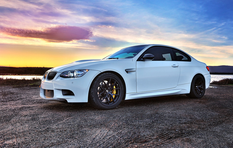 Photo wallpaper white, black, bmw, BMW, coupe, white, wheels, drives, bbs, e92, brake, BBC, Brembo