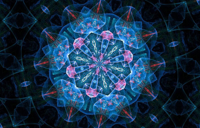 Photo wallpaper flower, line, pattern, the volume