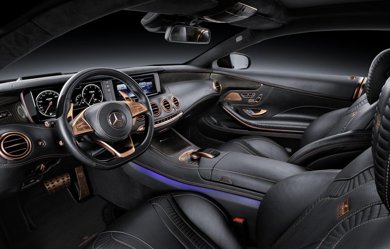 Photo wallpaper leather, car, BRABUS, salon, Coupe, 850, Biturbo