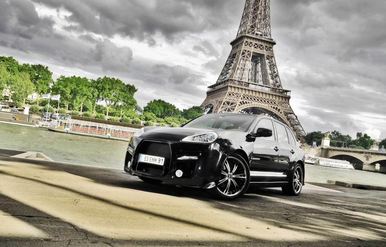 Photo wallpaper machine, auto, tower, Paris, Eiffel