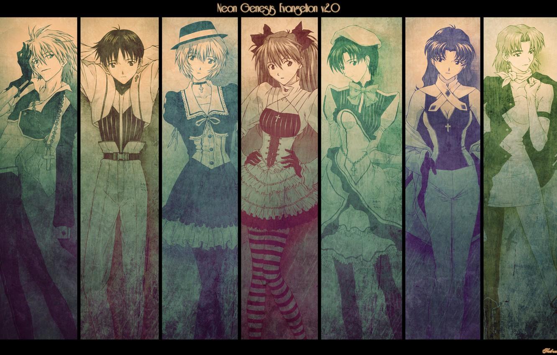 Photo wallpaper anime, evangelion, evangelion, characters