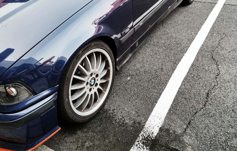 Photo wallpaper asphalt, blue, daroga