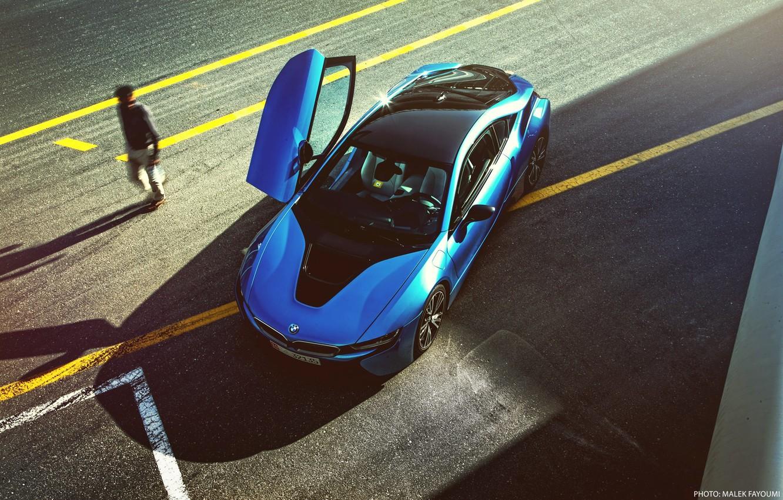 Photo wallpaper BMW, Blue