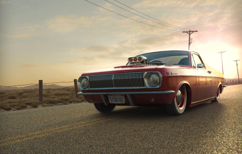 Photo wallpaper sunset, tuning, Volga, pickup, gas 24