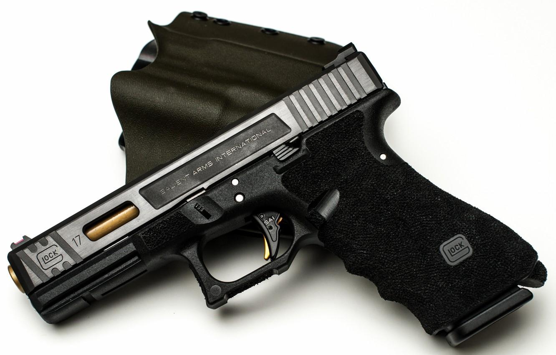 Photo wallpaper gun, weapons, glock