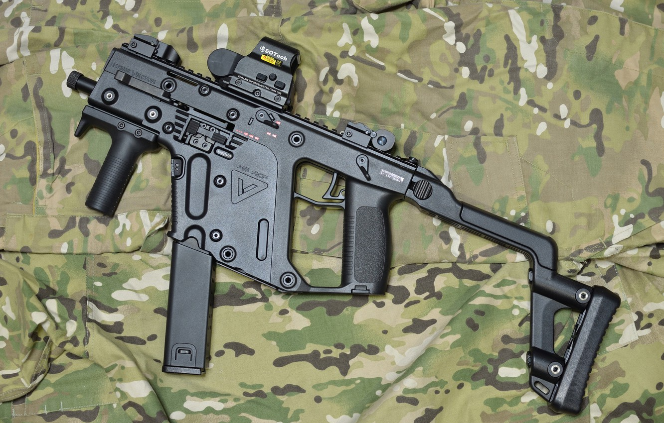 Photo wallpaper weapons, camouflage, the gun, Super V, KRISS Vector