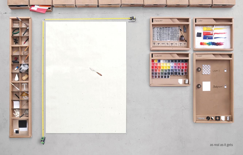 Photo wallpaper Desk, Photoshop, Photoshop CS5