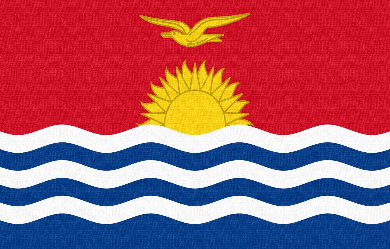 Photo wallpaper The sun, Flag, Republic, Republic, Kiribati, Kiribati