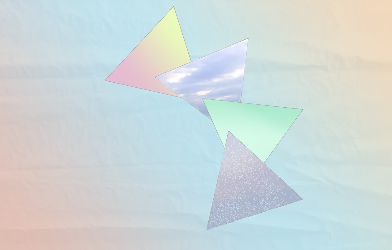 Photo wallpaper triangles, color, gradient, pastel, geometry