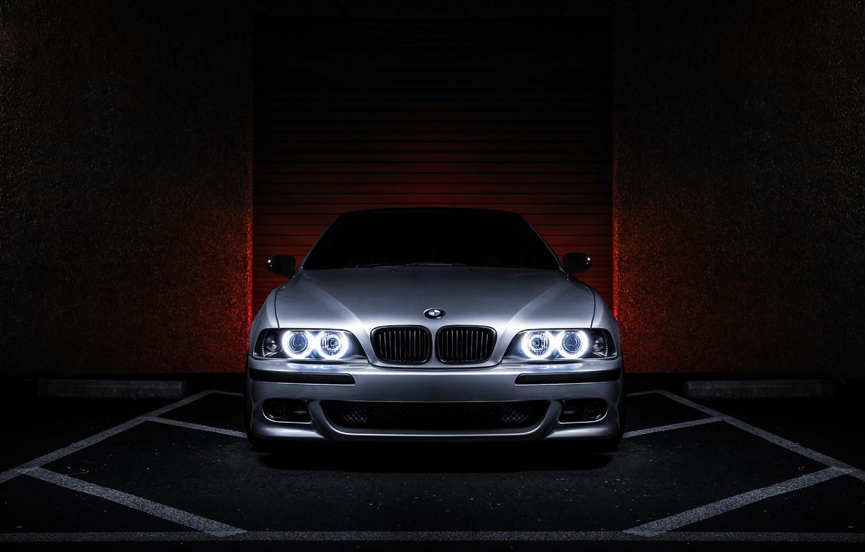 Photo wallpaper BMW, BMW, metallic, angel eyes, E39, 540i, 5 series