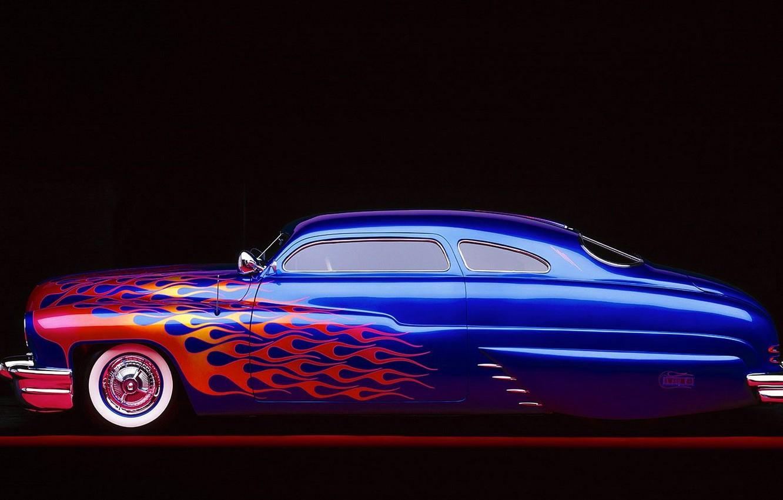 Photo wallpaper retro, paint, coupe, limousine