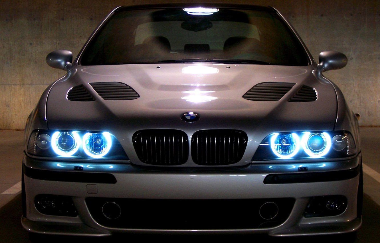 Photo wallpaper machine, machine, BMW, Boomer, black, E39, Angels Eyes