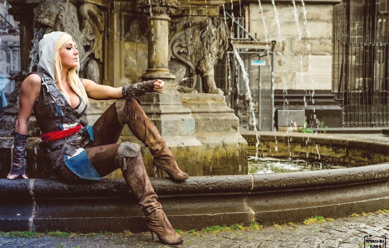 Photo wallpaper sexy girl, assassin's creed, cosplay, cosplay, Jessica Nigri