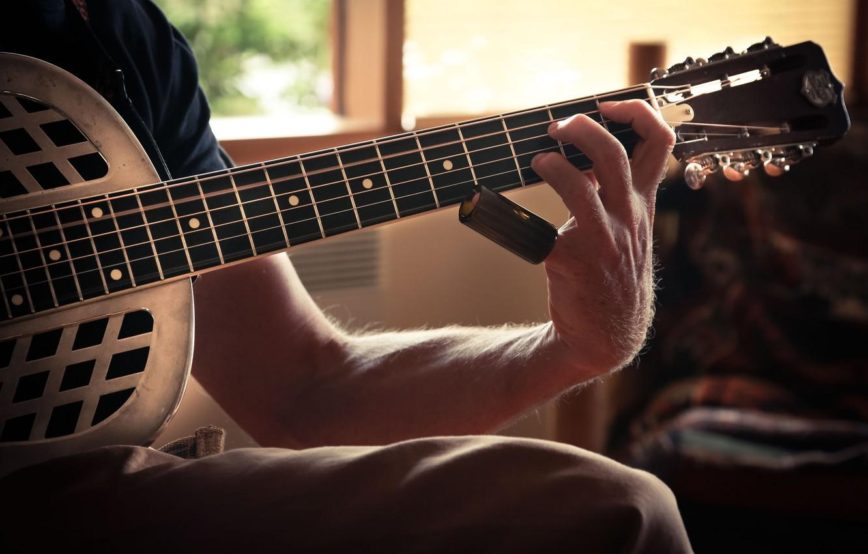 Photo wallpaper music, background, guitar