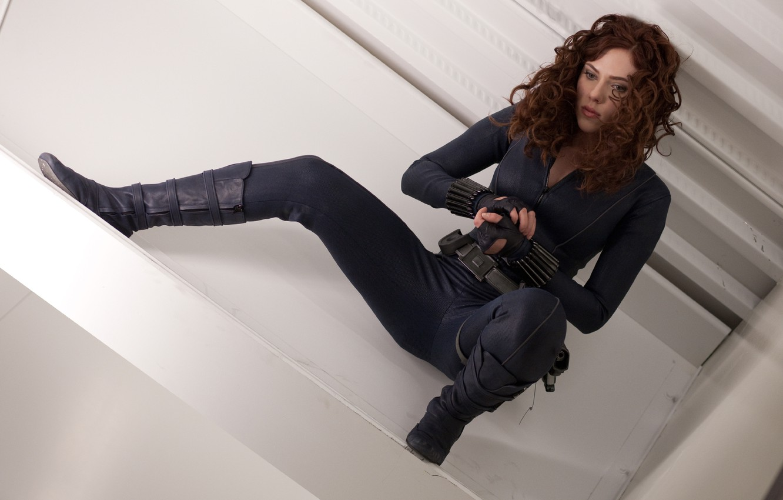 Photo wallpaper Scarlett Johansson, Black Widow, Iron man 2